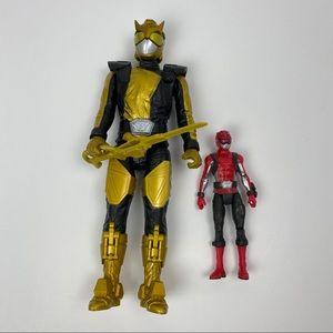 Gold Power Ranger Red power ranger